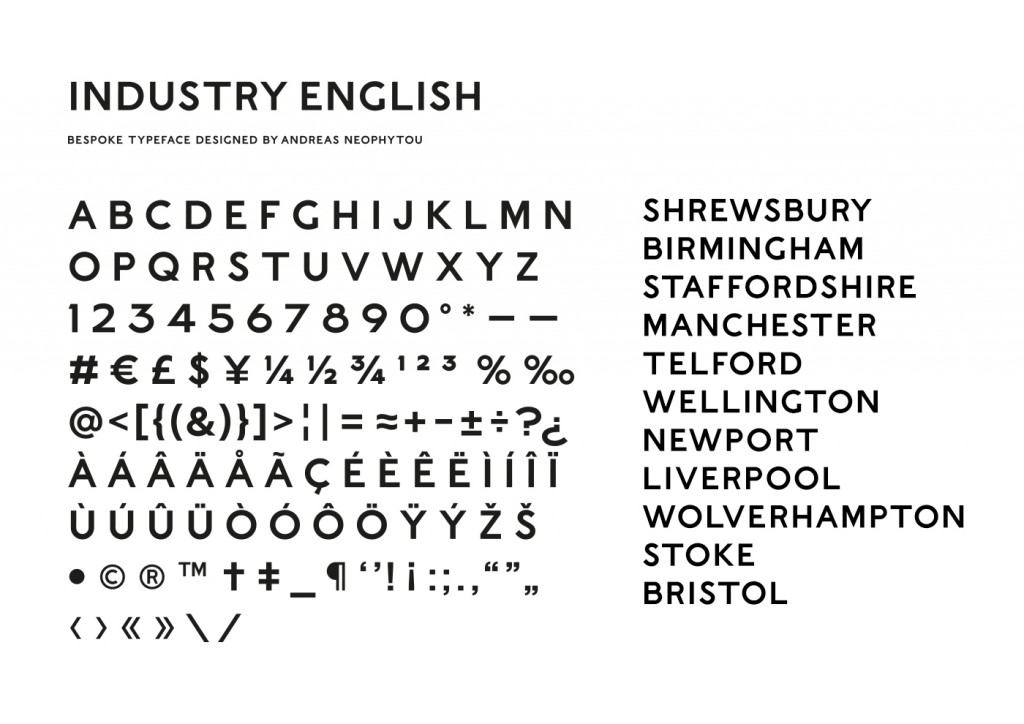 Industry English, the bespoke typeface for Sweetdram