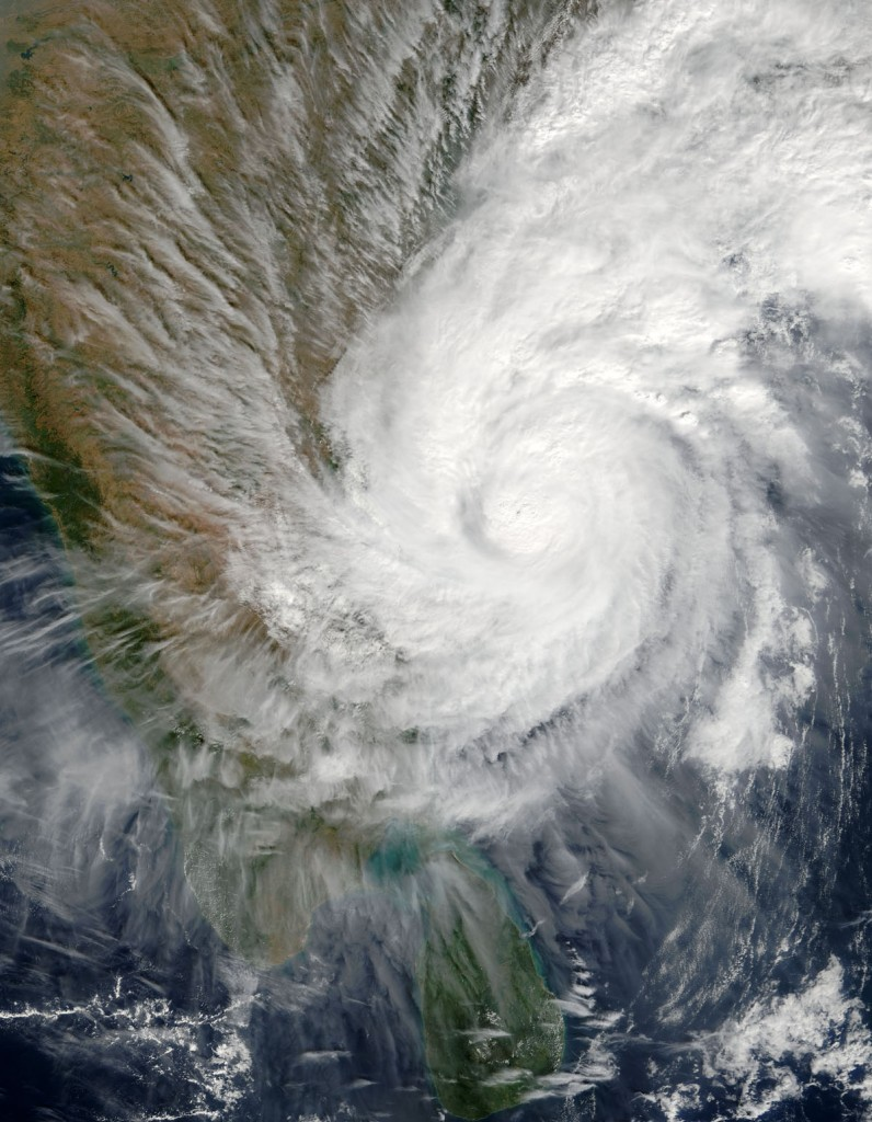 Typhoon over Bay of Bengal