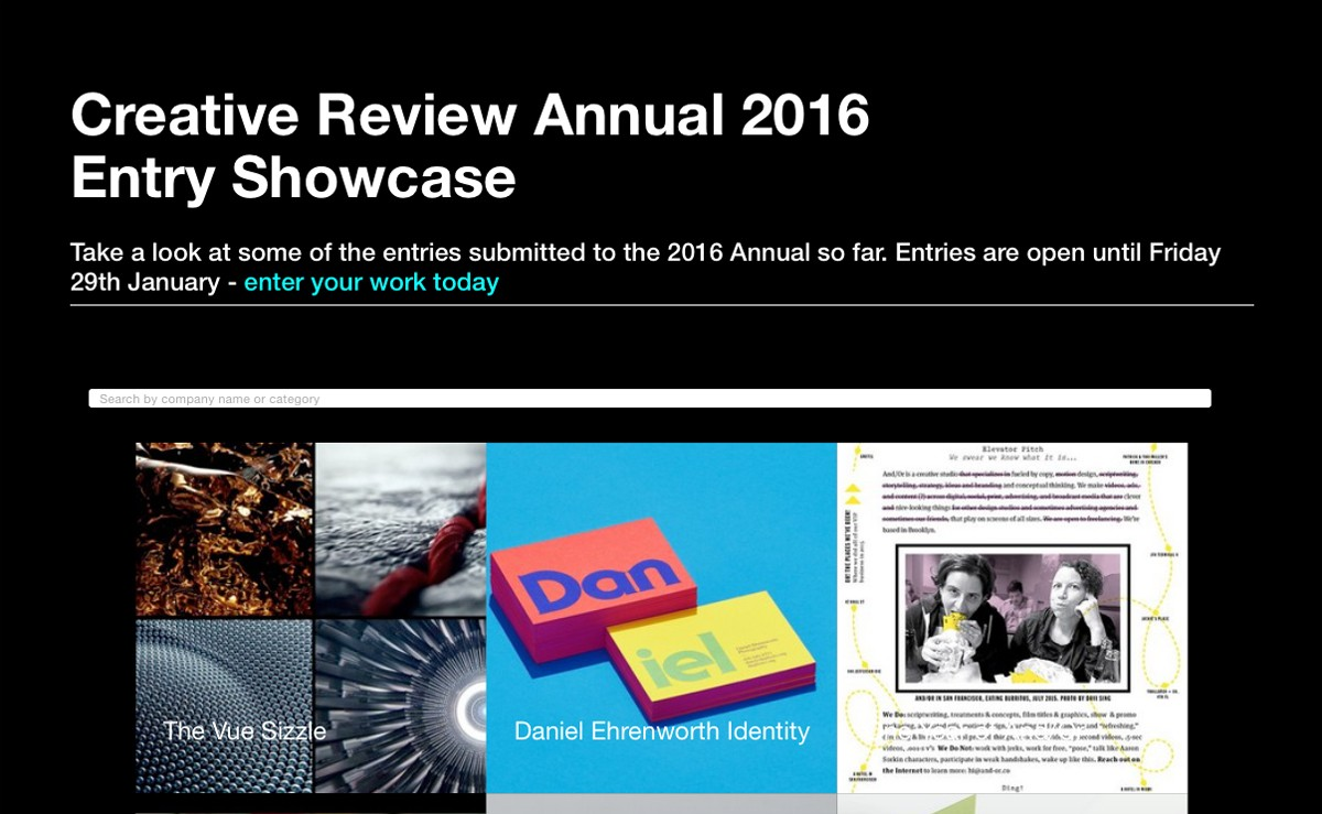 CR Annual: see our entries so far