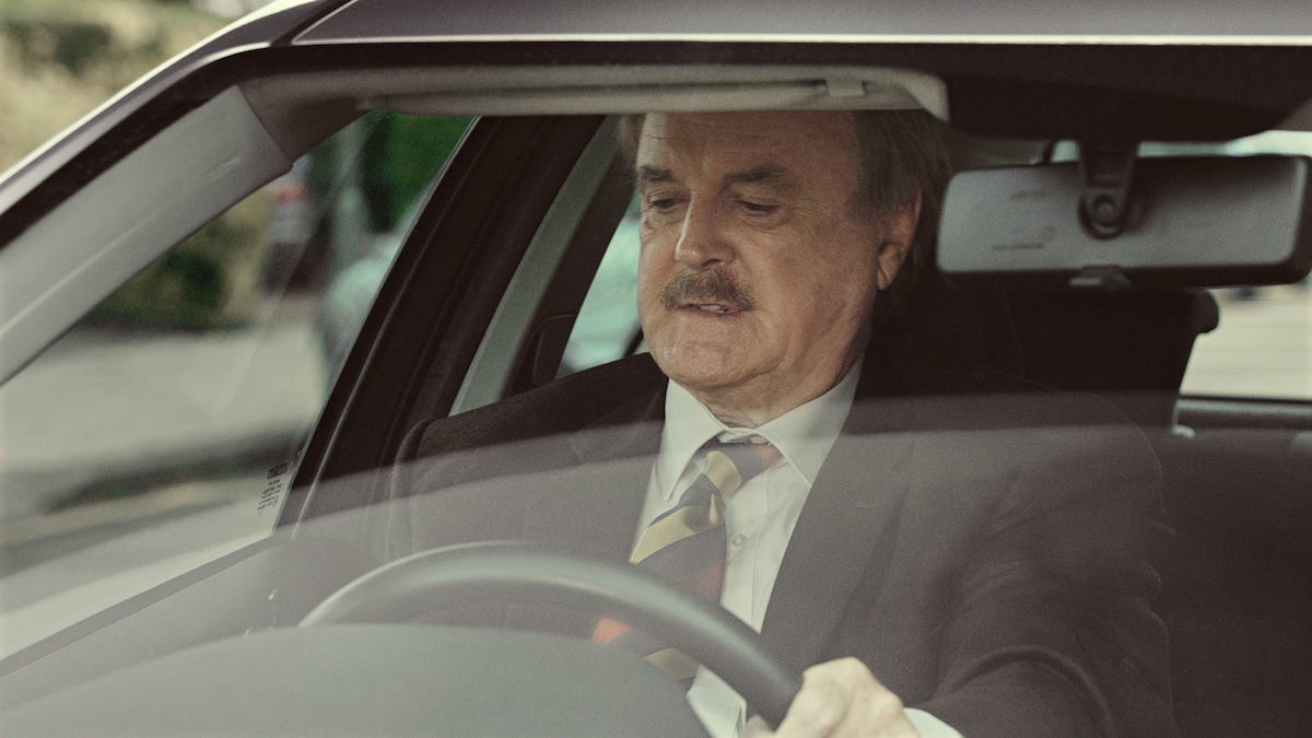 specsaver adverts john cleese reprises basil fawlty for specsavers  john cleese reprises basil fawlty for specsavers ad creative review fawlty car specsavers tv in car