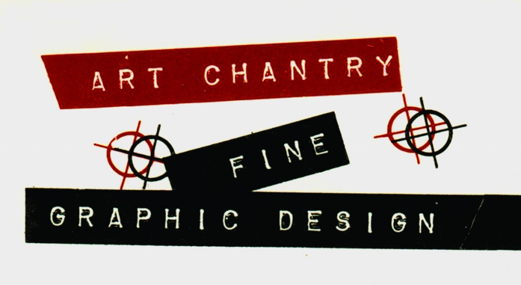 "VU Gallery student art contest poster by Art Chantry, 1977.  ""A quick poster made from garbage ... we had no budget to hire a typesetter,"" Chantry told CR. ""The images are all cut-up ads for various clip art books overprinted in process colours""."