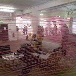 An ingenious see-through room within a room at the London Design Festival, created with just coloured string by B&O.