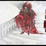 Costume design from The Phantom of the Opera, 1986 (Image: Maria Bjornson Archive)