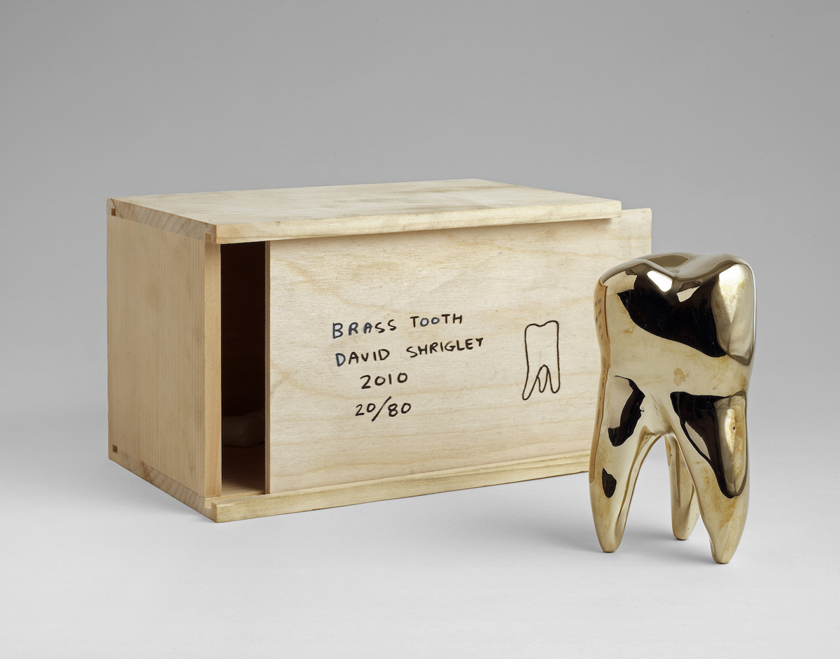 David Shrigley, 'Brass Tooth', 2009. Solid polished brass, wooden box. Edition of 80. Published by The Multiple Store. £2,250