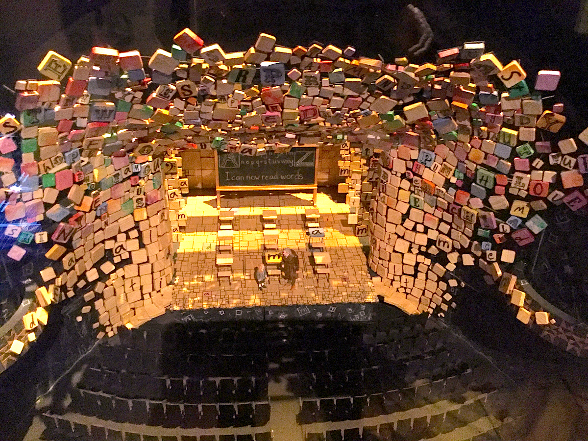 Set model for Matilda the Musical (2011), design by Rob Howell, built by Bec Chippendale