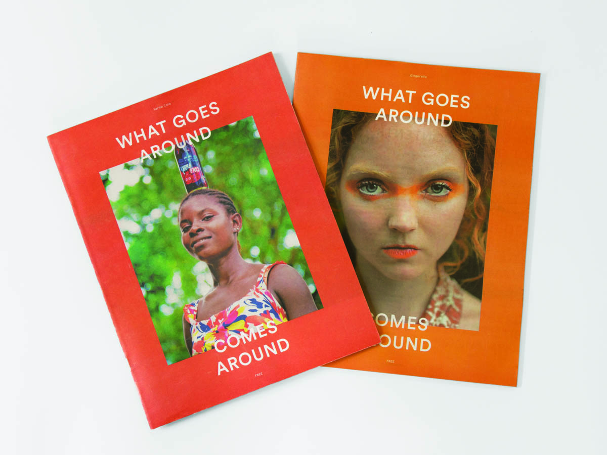 What Goes Around magazine which features articles on All Good's work. The magazine is designed by Natasha Mead