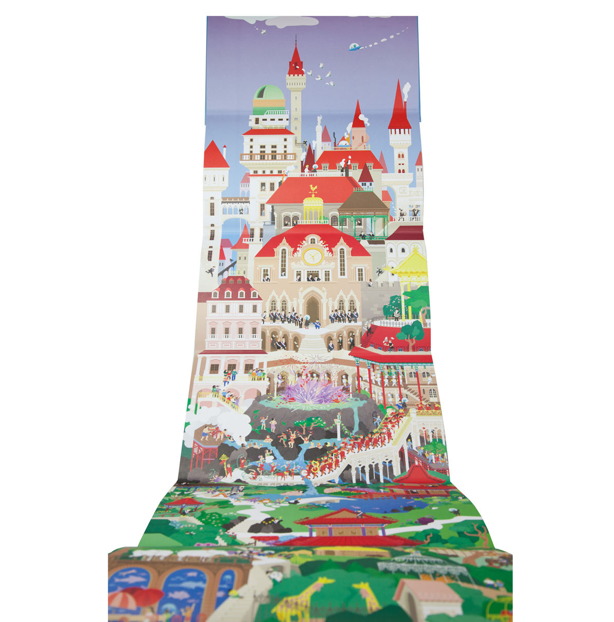 Megalopolis: a three-metre long children's story book from illustrator Cléa Dieudonné