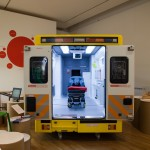 In 2012, the HHCD's redesigned ambulance interior featured in the Design Museum's Designs of the Year show and won the Transport section of the associated Awards (Design Museum photograph by Luke Hayes). Lead designers: Ed Matthews, Gianpaolo Fusari