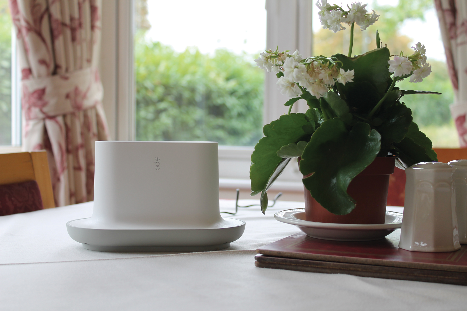 Ode, a device which releases food smells throughout the day to remind people with dementia to eat. In trials, 52% of people who installed the product gained weight (myode.org)