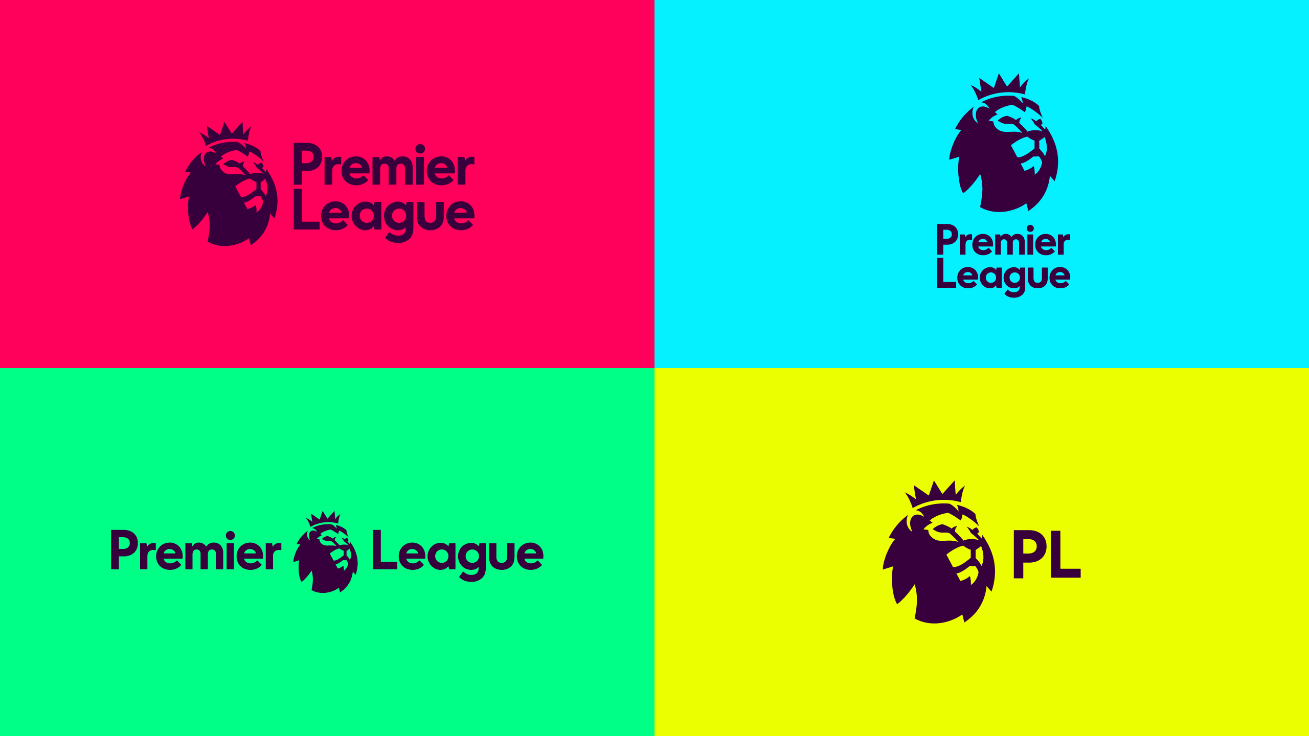 The Premier League's new logo feature's a lion's head, facing to the right as if looking forward