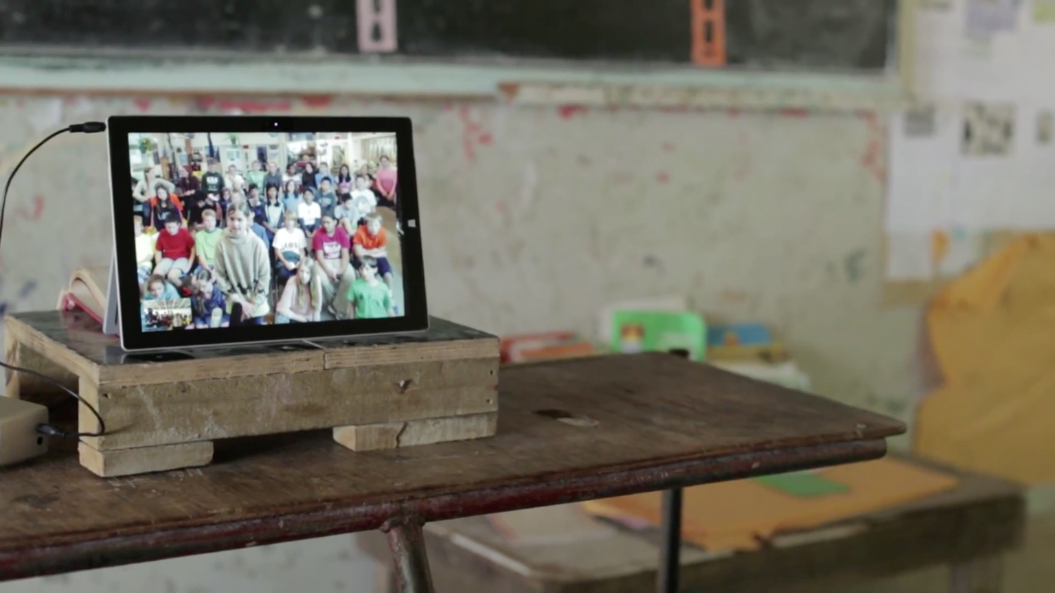 American students speak with children in the remote island of Kiribati via Skype in the Classroom to learn about climate change (watch a film of the project at bit.ly/1KTA0y1)