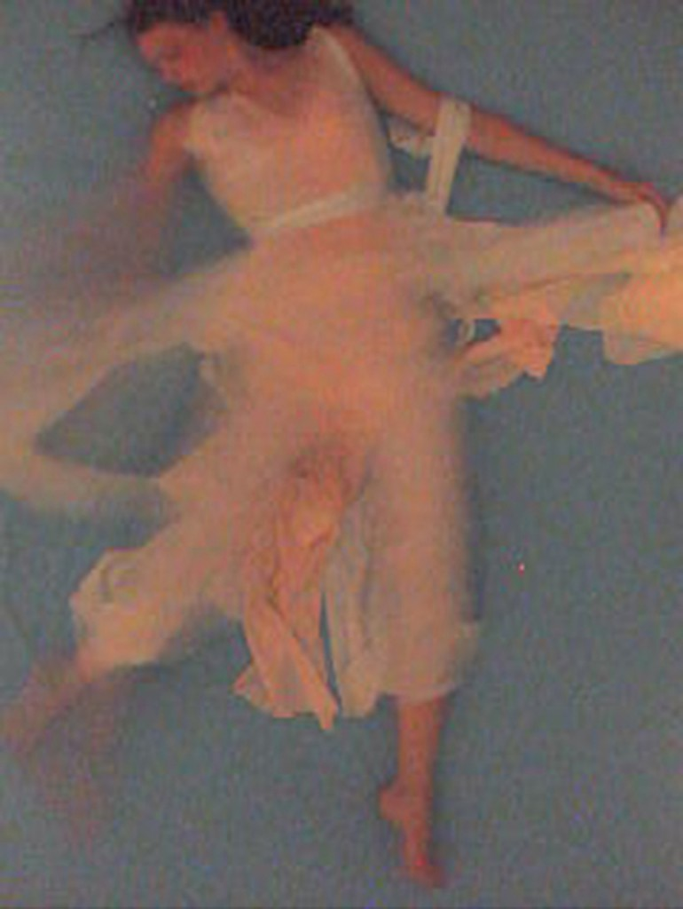 Still from Sleep, SHOWstudio's first livestream performance from 2002