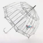 Lulu Guinness, Birdcage umbrella. Discovering that the structure of this style of umbrella is known by manufacturers as a birdcage led iconic handbag designer Lulu Guinness to the idea for this bestselling design.