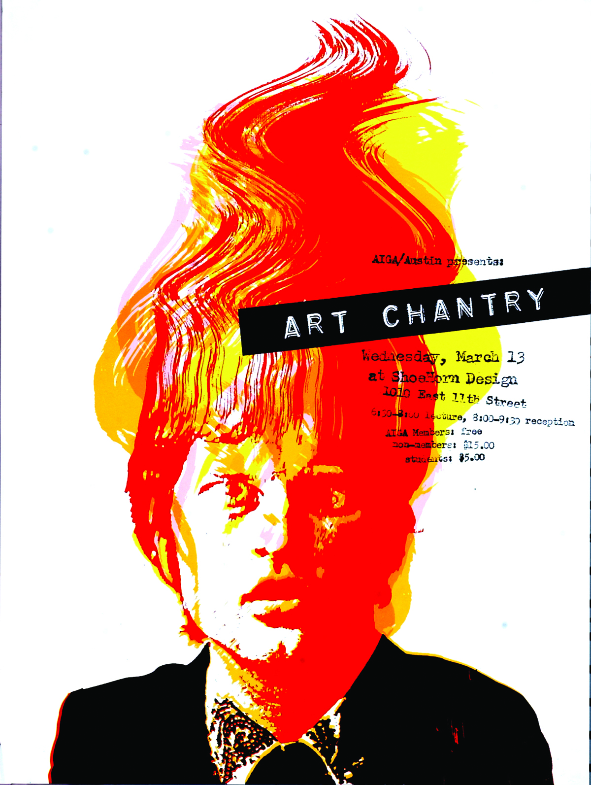 Art Chantry at AIGA, Austin poster, 2004