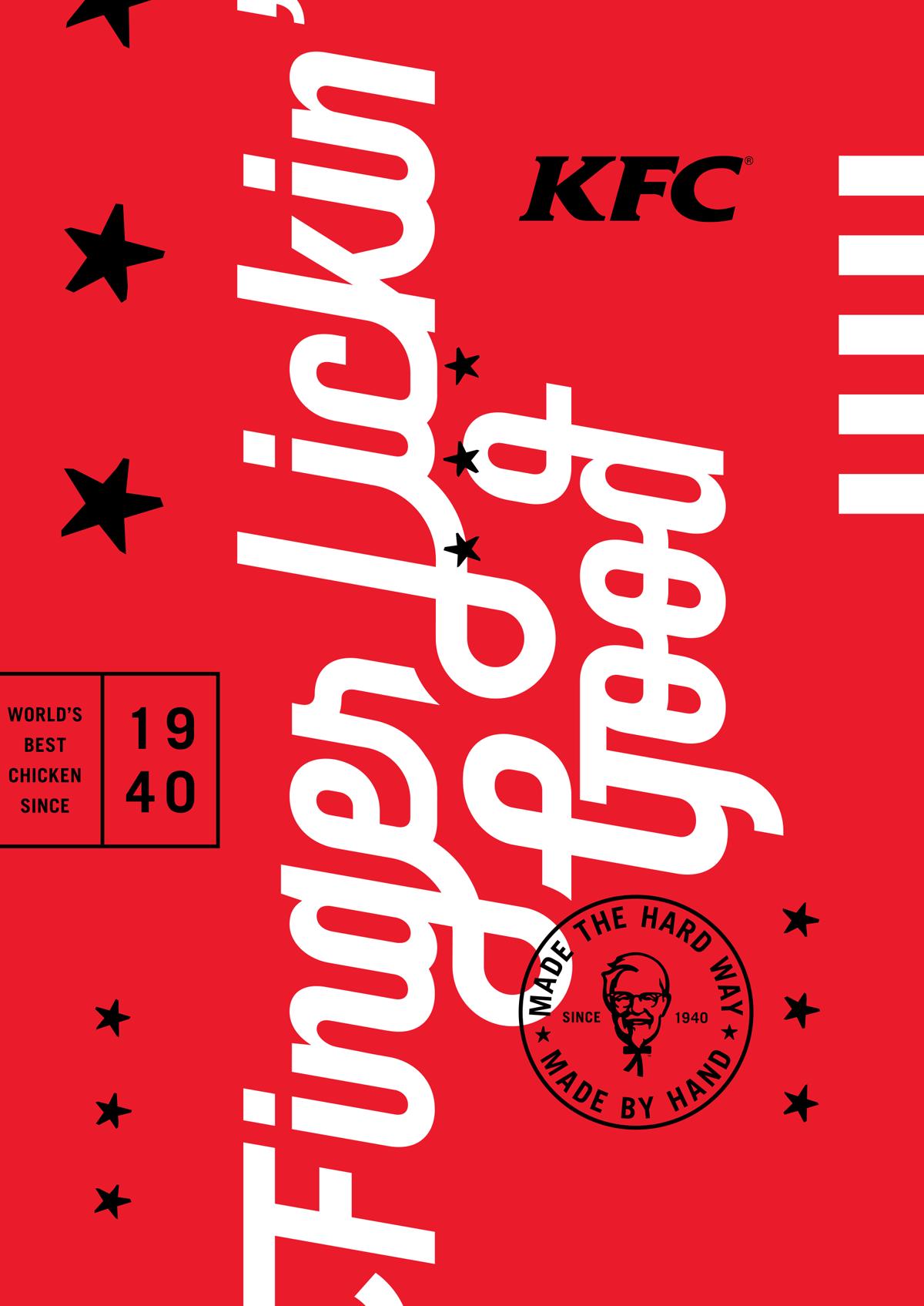KFC identity by Grand Army, grand-army.com