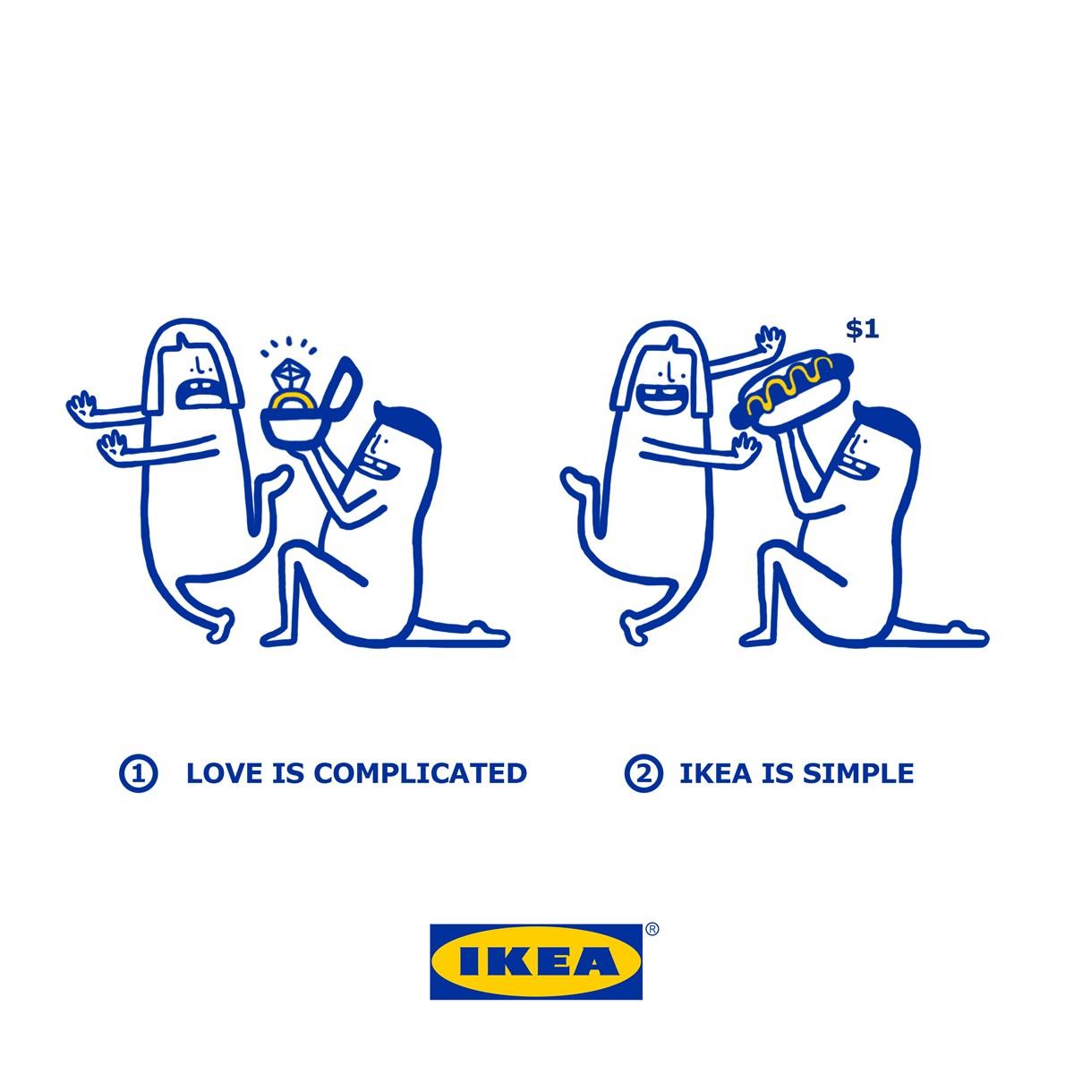 Ikea Singapore's cute Valentine's Facebook campaign