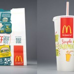 McDonald's 2013 packaging with QR codes