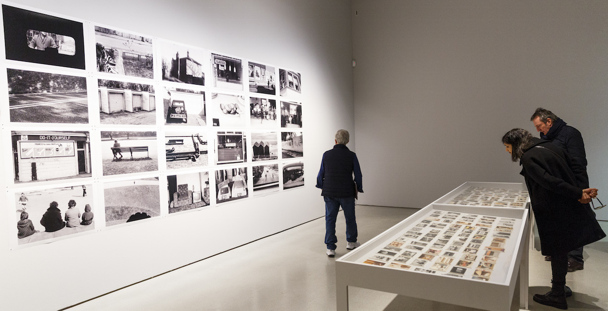 Display of photos of 1970s Britain by Shinro Ohtake