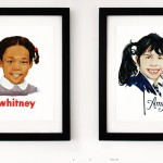 Whitney, 2012 and Amy, 2011 in spread from Drawn in Stereo