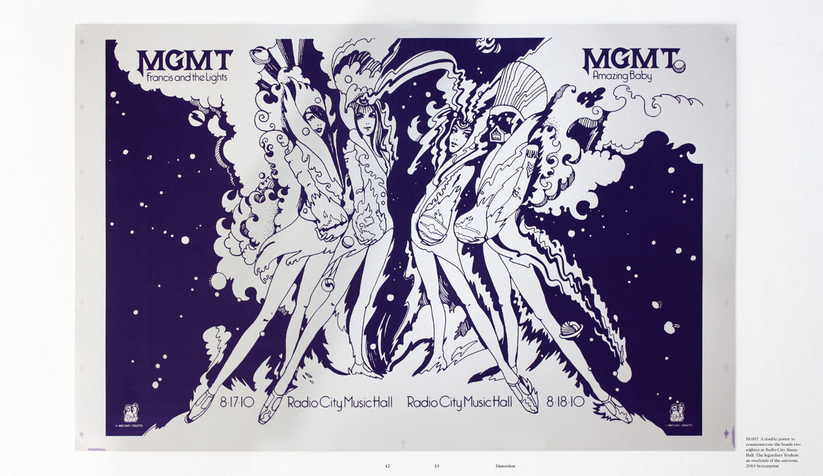 MGMT poster in spread from Drawn in Stereo