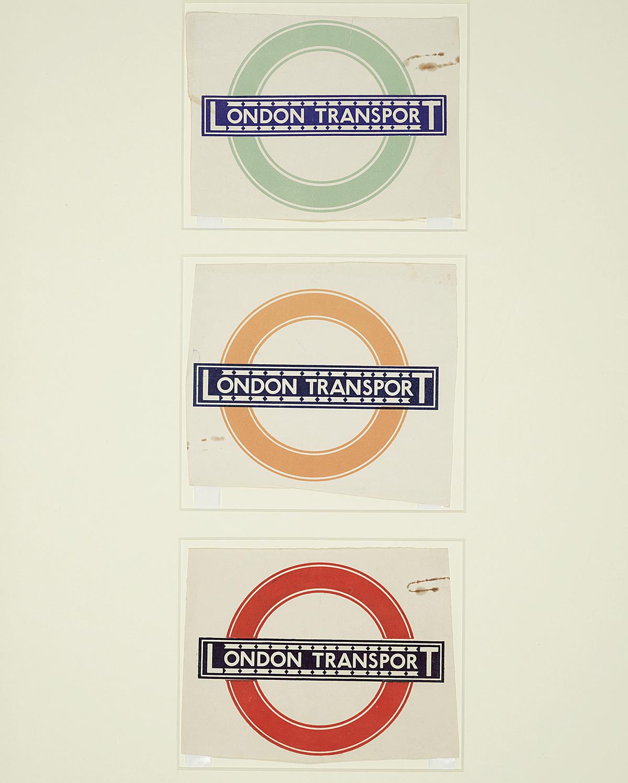 Top: One inch monoline sans serif 'Railway' type designs by Edward Johnston, 1916; Above: Bulls Eye. Images: © Crafts Study Centre