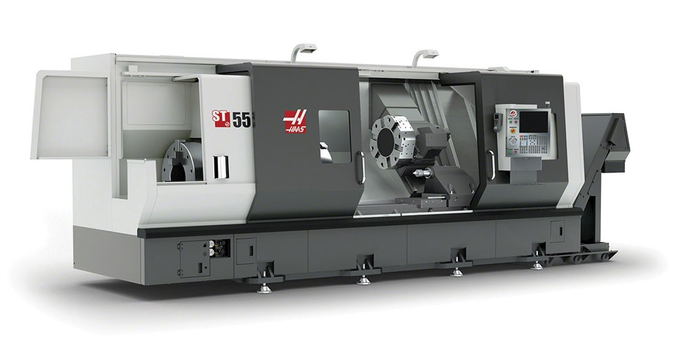 The grey-black-grey colouring of Haas' CNC machines can be clearly seen across the team's final identity