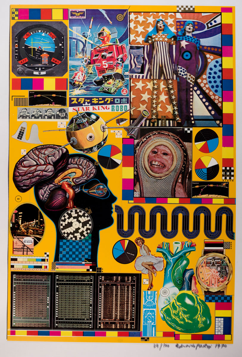 Eduardo Paolozzi, Hollywood Wax Museum from Zero Energy Experimental Pile, 1969–70. Courtesy YSP © The Eduardo Paolozzi Foundation