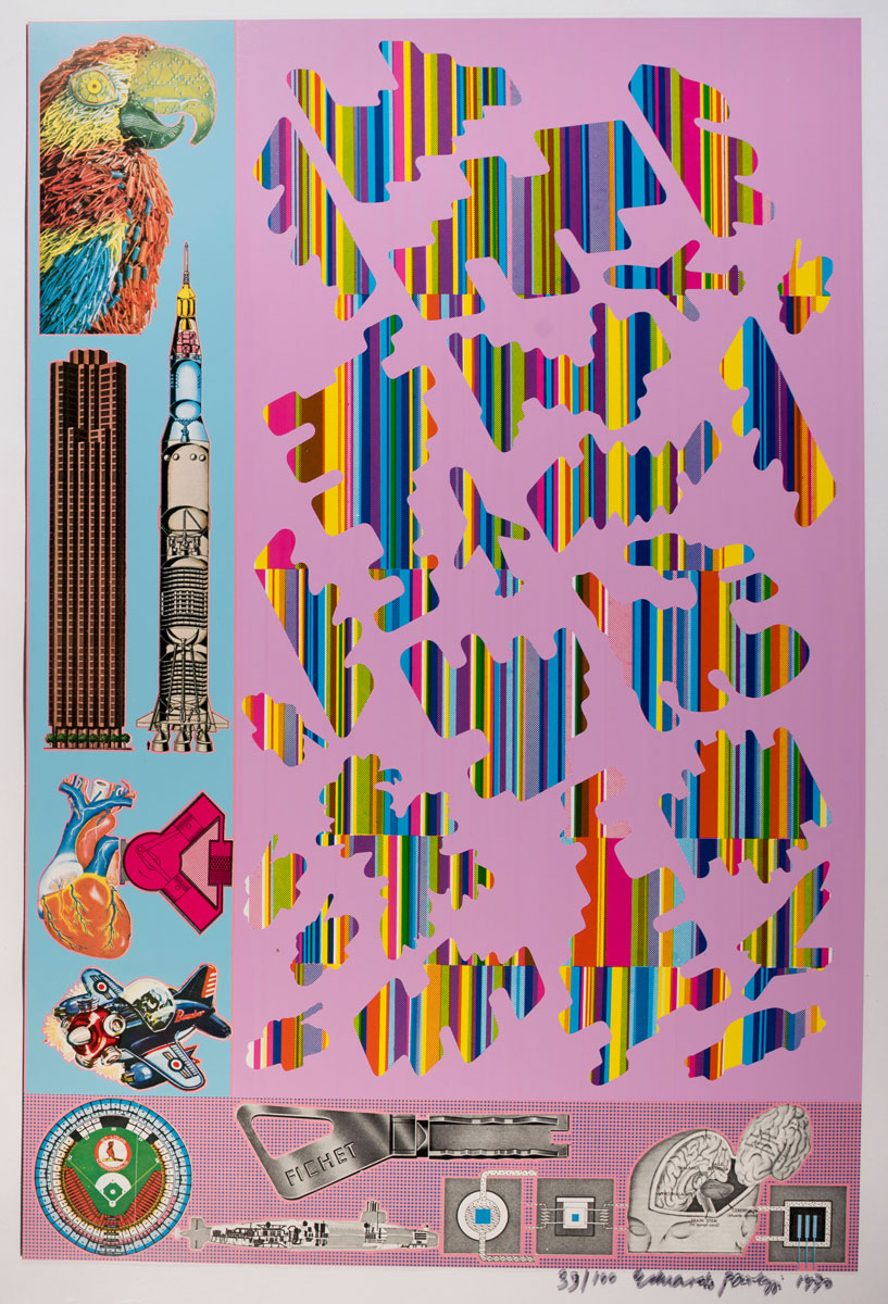Eduardo Paolozzi, Human Fate and World Powers from Zero Energy Experimental Pile, 1969–70. Courtesy YSP © The Eduardo Paolozzi Foundation
