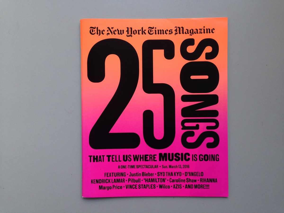 The New York Times Magazine's 25 songs issue