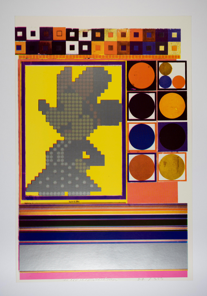 Eduardo Paolozzi, Inside Down Under…What are the Building Blocks of Structuralism from General Dynamic F.U.N., 1965–70. Courtesy YSP © The Eduardo Paolozzi Foundation