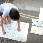 Creating the rubbings for Overlooked