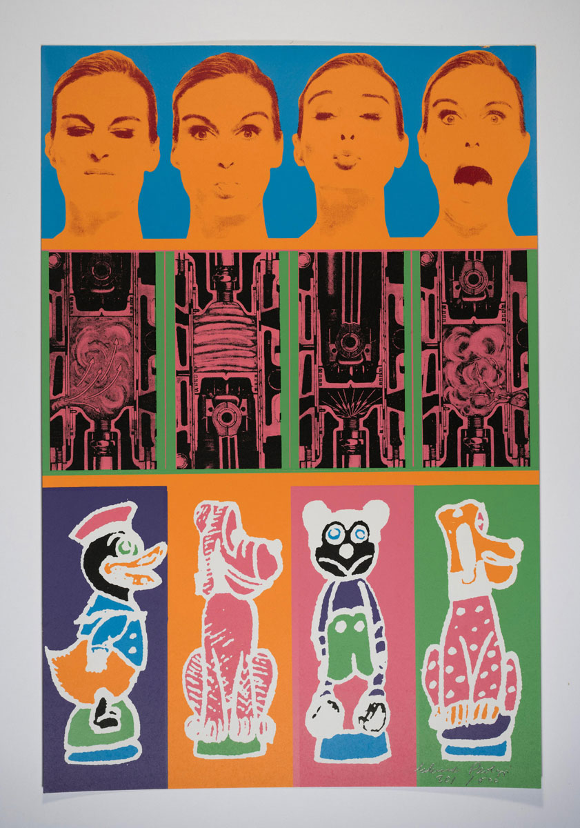 Eduardo Paolozzi, Secrets of the Internal Combustion Engine from Moonstrips Empire News, 1967. Courtesy YSP © The Eduardo Paolozzi Foundation