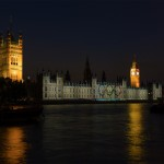 Official projection to celebrate the London Olympics 2012. Photo: Steve Harris