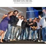 From the Tumblr Too Many Guys One Girl, which highlights the gender imbalance at ad award shows