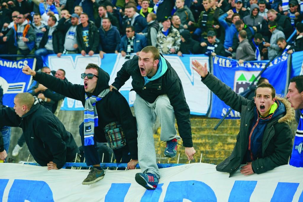 Zeljeznicar Sarajevo fans at  the Sarajevo derby. Photo by Robin Bharaj for Copa90.