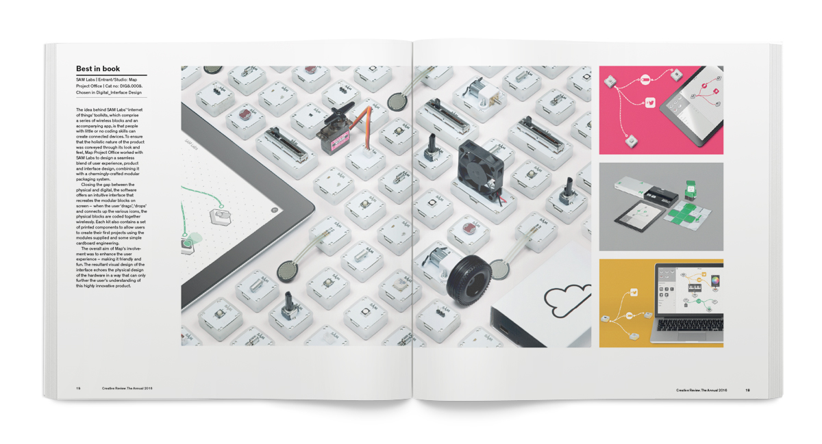 Best in Book winners for the 2016 Annual included SAM Labs IoT toolkits