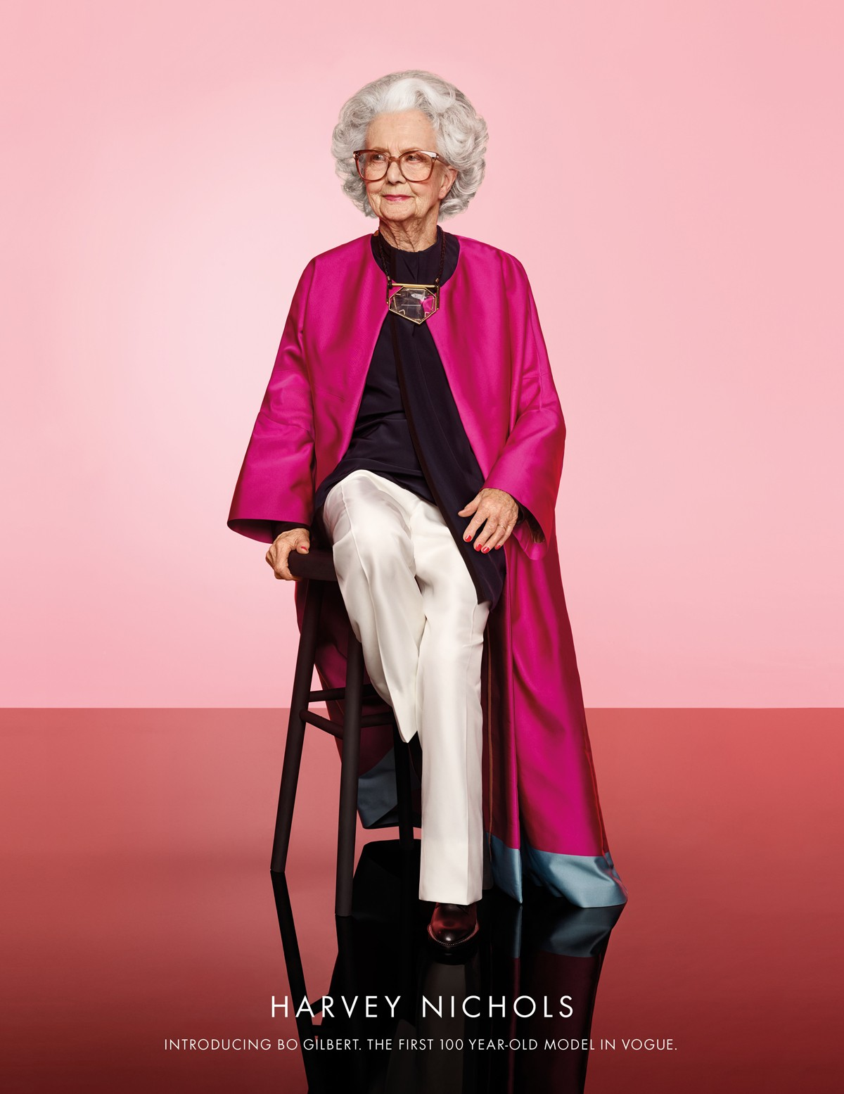 Harvey Nichols features 100 year-old model in special ad for Vogue