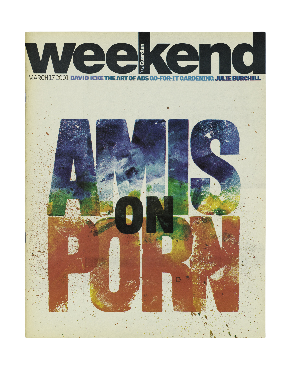 Cover for The Guardian Weekend Magazine, 2001