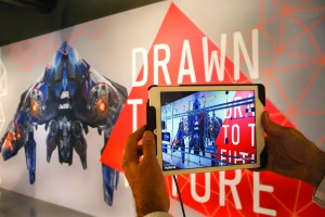 New technology demonstrated at the Drawn to the Future exhibition at the Building Centre in London: augmented reality revealing pipework within a wall