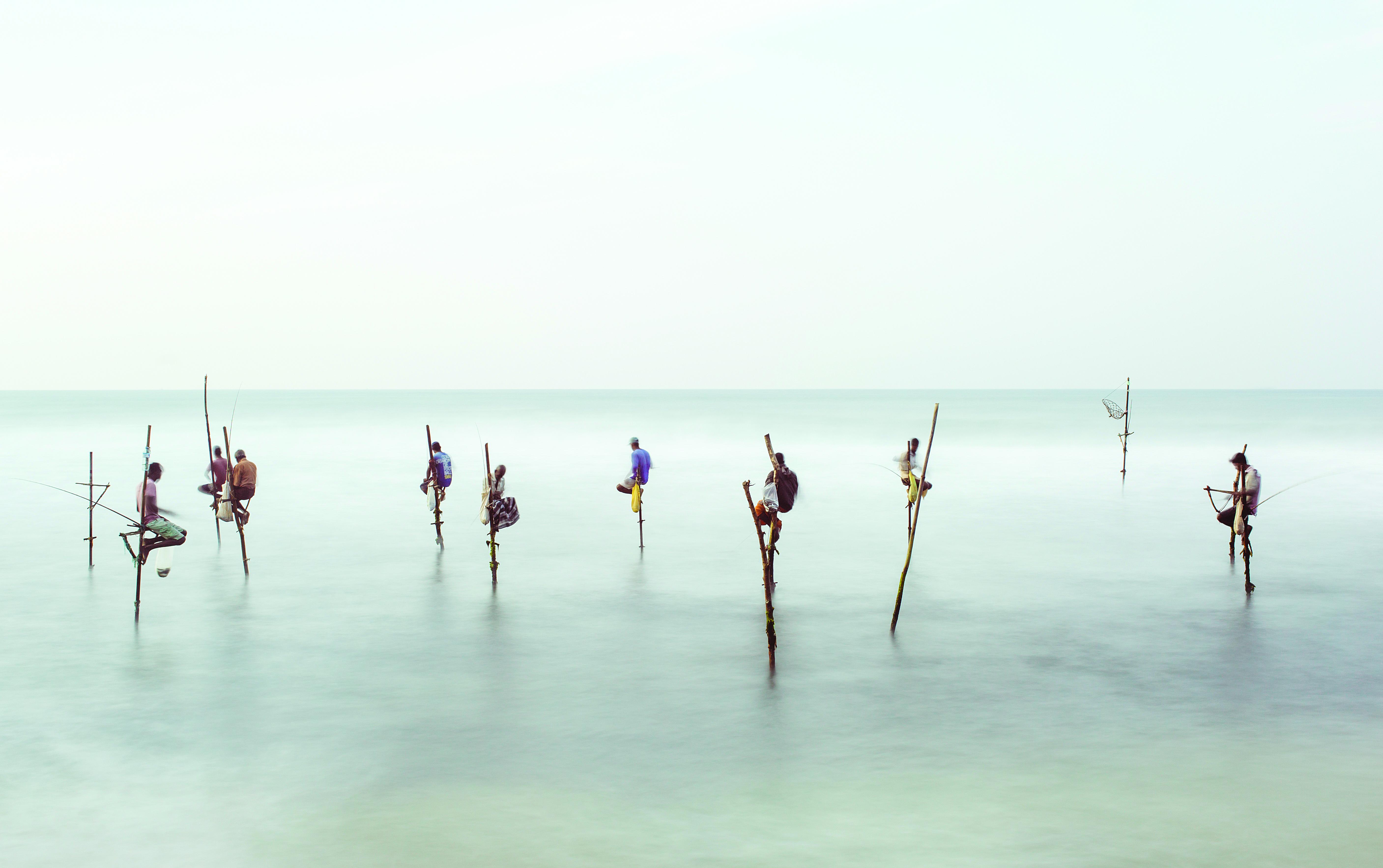 Stilt fishermen in Sri Lanka (Matt Porteous/Getty Images). gettyimages.co.uk