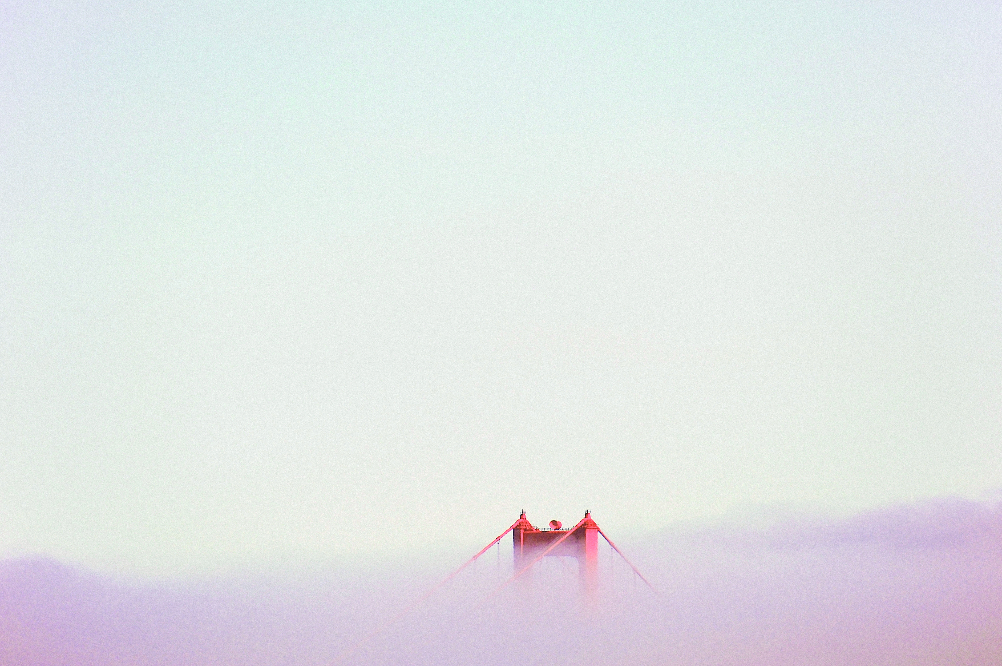The Golden Gate Bridge in San Francisco rising out of the mist. (Justin Chung for the cover of Cereal, volume 10). readcereal.com