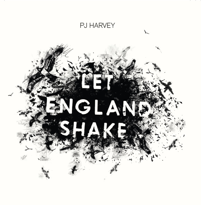 Let England Shake Cover artwork. [I would probably use the other image with the name on it, as that is the album cover.] I produced the cover image, Rob Crane did the rest of the album artwork. The image is a digital montage incorporating ink and pencil drawing and photography. It includes several drawings by Polly.
