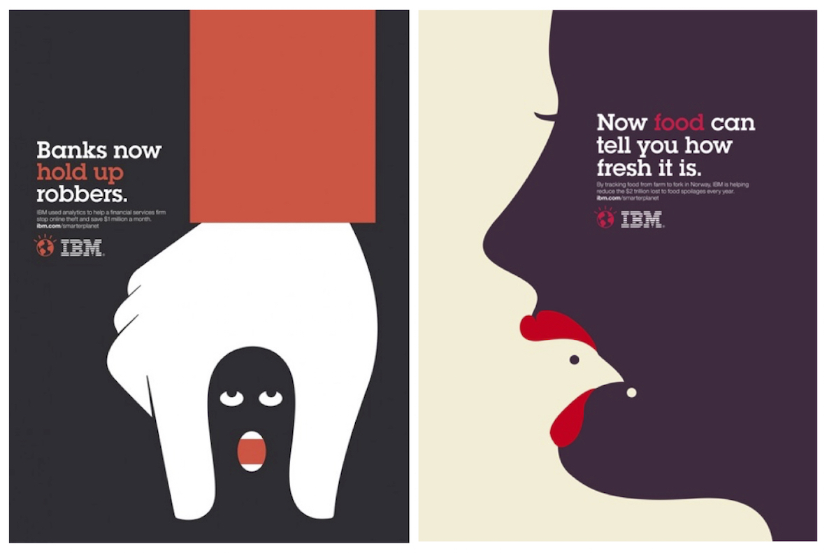 Noma Bar posters for IBM, 2012