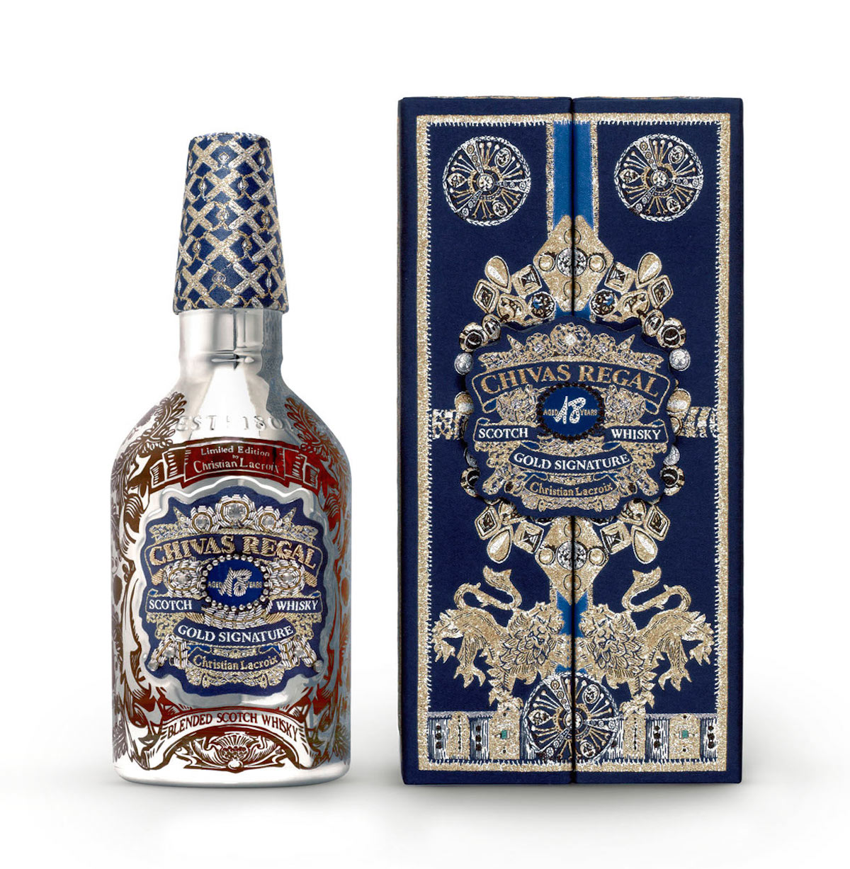 Chivas Regal packaging by Christian Lacroix, 2011