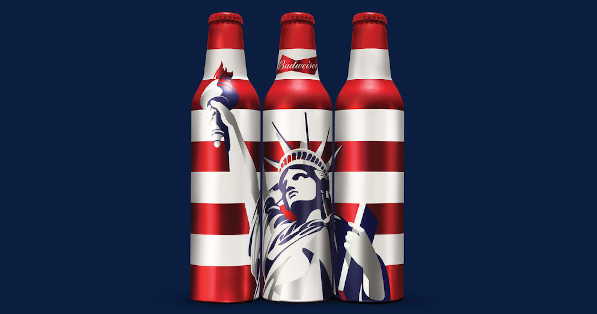 Budweiser bottles by Malika Favre for JKR