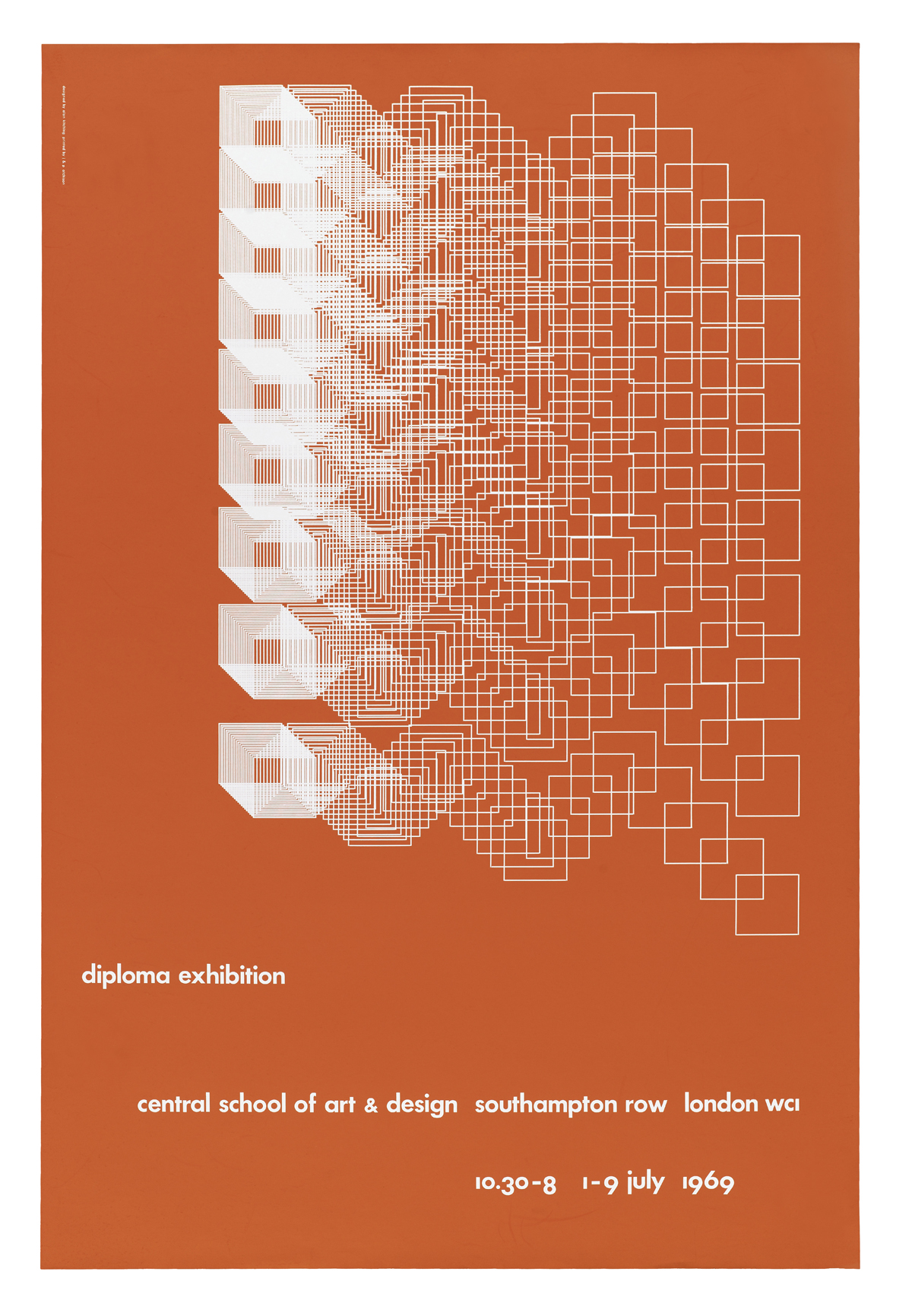Poster for Central School of Art and Design, 1969