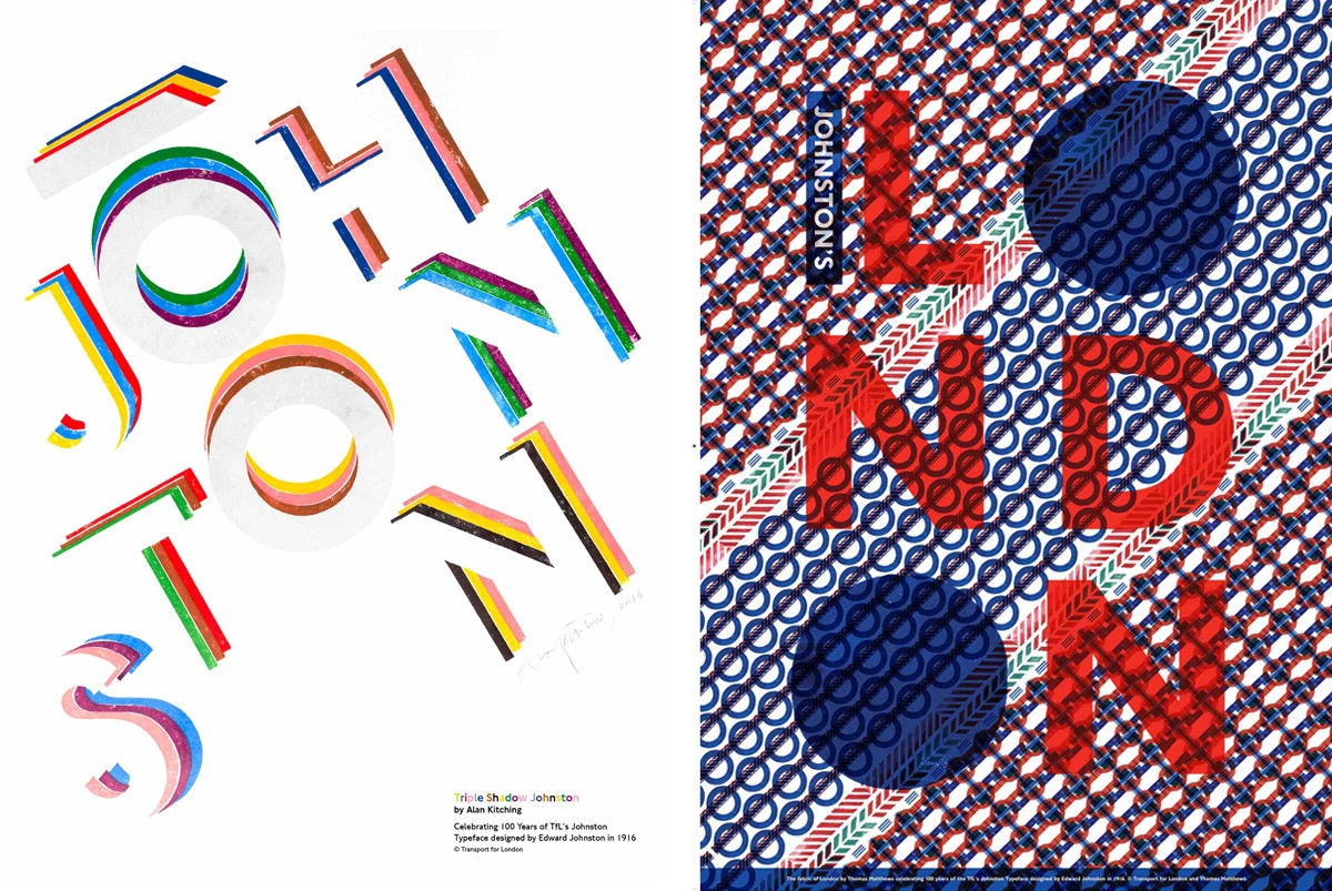 TfL celebrates centenary of the Johnston typeface with new poster campaign
