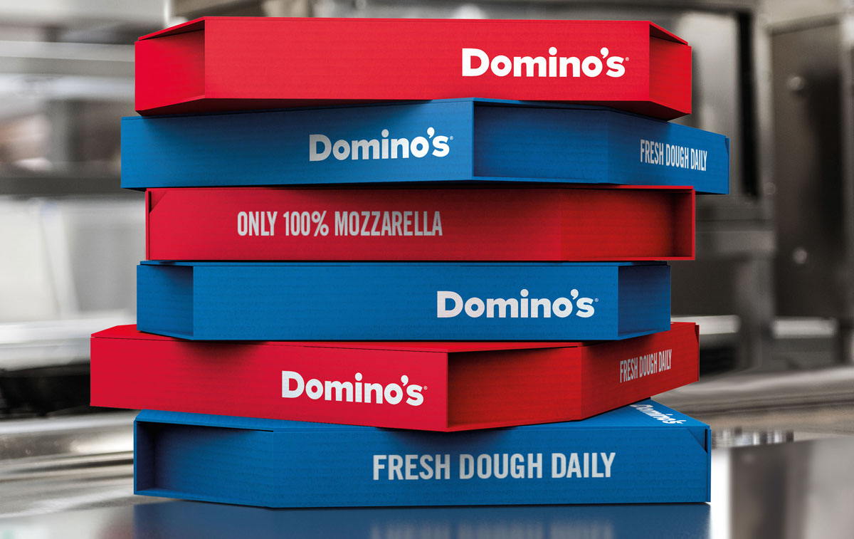 New Domino's pizza boxes by JKR