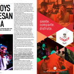 Spread from Vistar, January 2016 issue, with ad on right