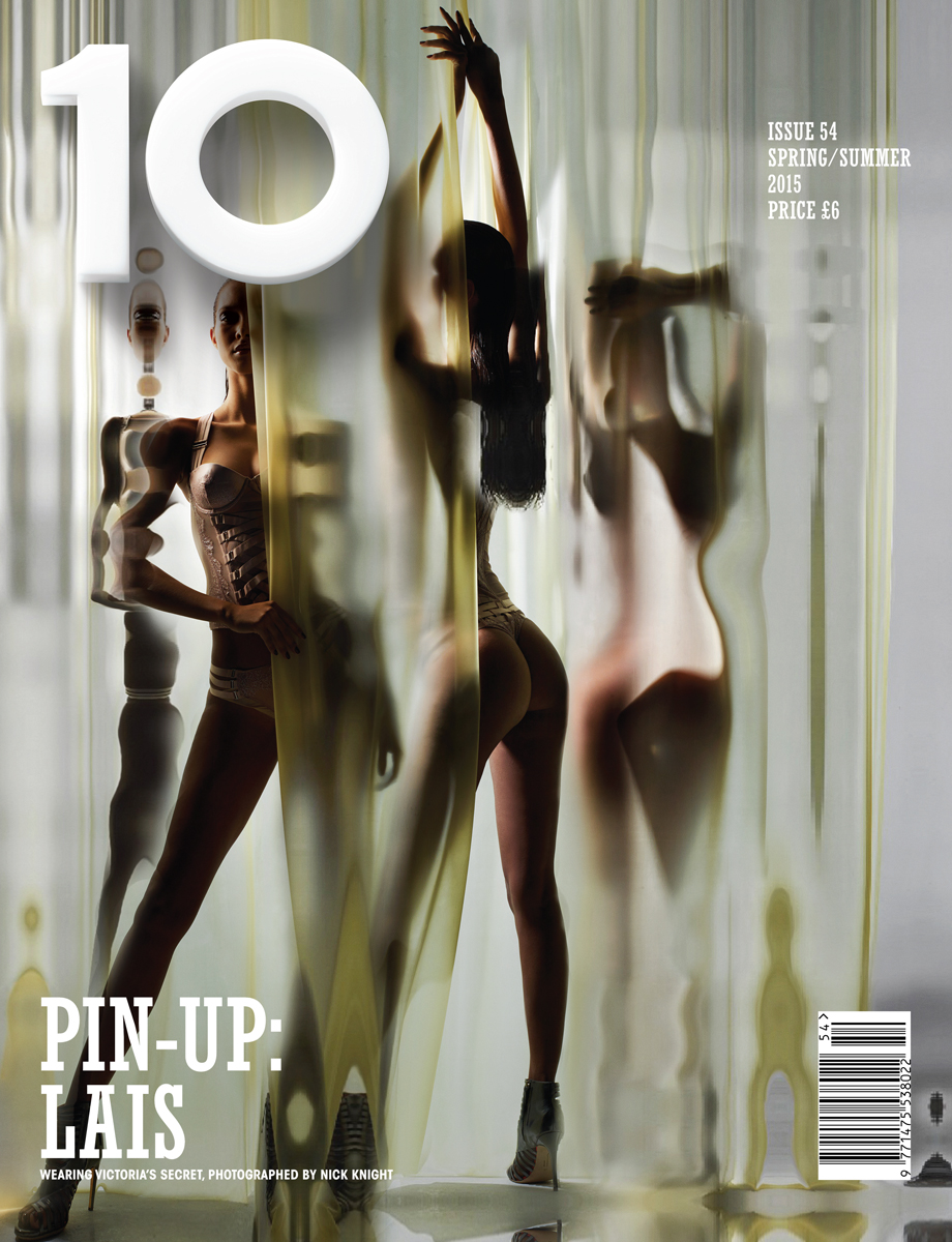 One of ten Nick Knight covers for 10 S/S 2015 featuring Victoria's Secret models